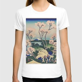 Sakura blossom with Mount Fuji in the background, Japanese fine art T-shirt