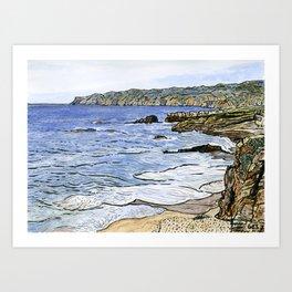 Cabo da Roca, Portugal Art Print