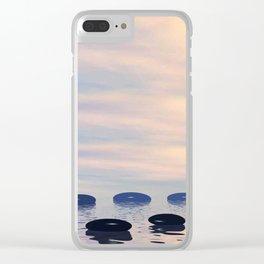 Zen Steine 1 Clear iPhone Case