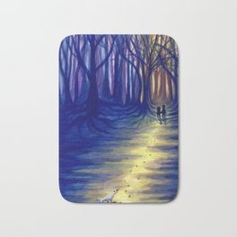 Hansel and Gretel in the Woods Bath Mat