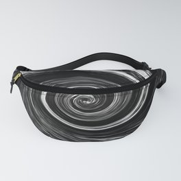 Center of The Vortex black and white 1 Fanny Pack