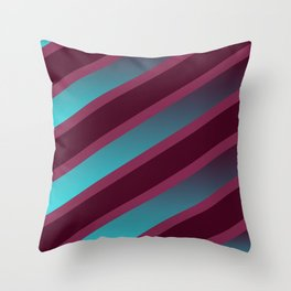 The Burgundy Blues Throw Pillow
