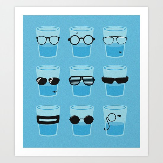Glasses Art Print