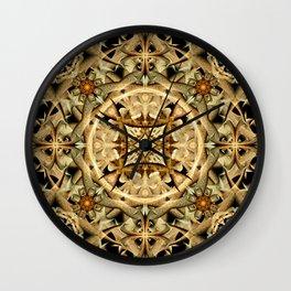 Desert Sands Mandala Wall Clock
