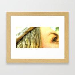 Hair and lashes Framed Art Print