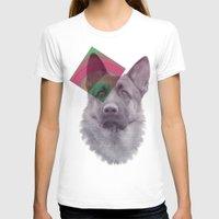 german shepherd T-shirts featuring German Shepherd by MOSAICOArteDigital