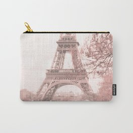 Paris Nursery, White, Eiffel Tower Carry-All Pouch