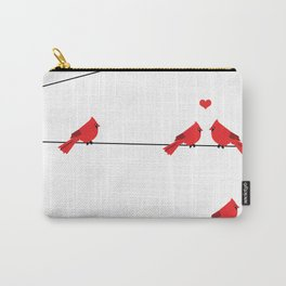 Red birds - winter talk Carry-All Pouch