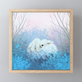 Baby Bun Buns at Dusk Framed Mini Art Print