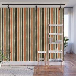 Custom Multicolor Striped Pattern Wall Mural
