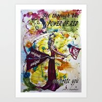 The power of red Art Print