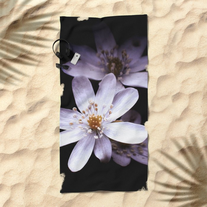 Magic White Flower Beach Towel