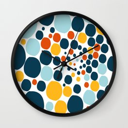 Abstract, happy colored balls Wall Clock