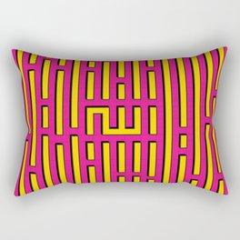 Allah Kufic Calligraphy (Pink) Rectangular Pillow
