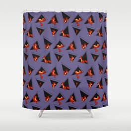 squirrel pack Shower Curtain