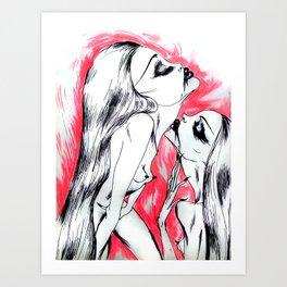 Nymphettes Coquettes Art Print