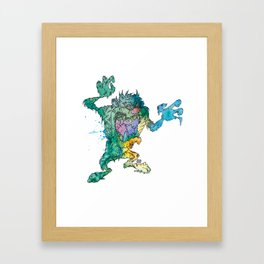 ZombManian Devil Framed Art Print
