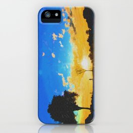Before dusk melted colors of the world. iPhone Case