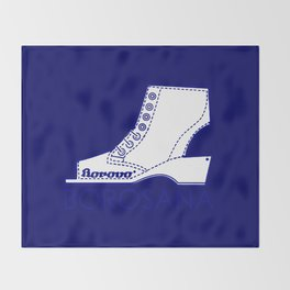 Borosana Borovo -  white nostalgic ortopedic shoe from Yugoslavia Throw Blanket