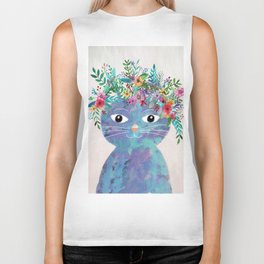 Flower cat II Biker Tank