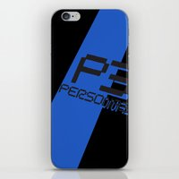 persona iPhone & iPod Skins featuring Persona 3 by BlackHeartedInk