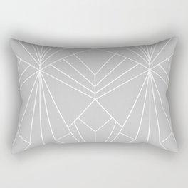 Art Deco on Grey - Large Scale Rectangular Pillow