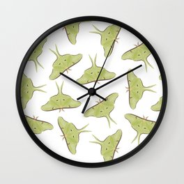 Luna Moth Pattern Wall Clock