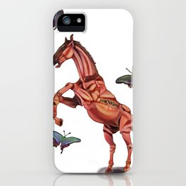 horse and butterfly iPhone Case