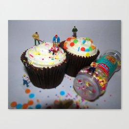 Cupcake Workmen Canvas Print