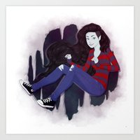 marceline Art Prints featuring Marceline by ribkaDory