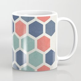 Honeycomb Geometrics, Vintage, Throw-Pillows, Art-Prints Coffee Mug