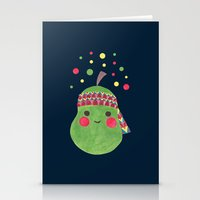 hippie Stationery Cards featuring Hippie Pear by haidishabrina