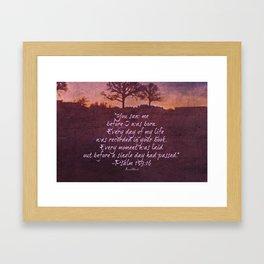 Psalm 139 Framed Art Print