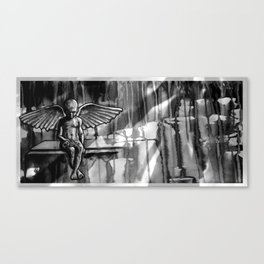 ANGEL OF CUPS - black 8 Canvas Print