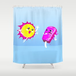 Sun Hug Ice Cream Scream Shower Curtain