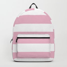 Cameo pink - solid color - white stripes pattern Backpack