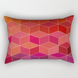 geometric pattern with geometric shapes, rhombus Rectangular Pillow