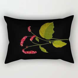 Polygonum Orientale Mary Delany Floral Paper Collage Delicate Vintage Flowers Rectangular Pillow