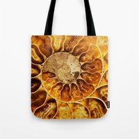 minerals Tote Bags featuring AMAZING AMMONITE by Catspaws