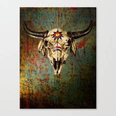 Grungy Skull Canvas Print