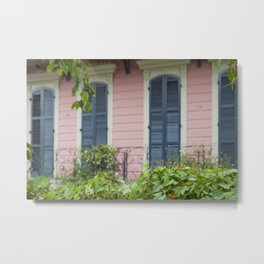 New Orleans Pink Front Porch Metal Print