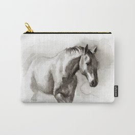 Watercolor painting of horse Carry-All Pouch