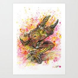 Canelo, the Chameleon Art Print