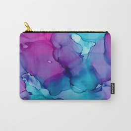 Alcohol Ink - Wild Plum & Teal Carry-All Pouch