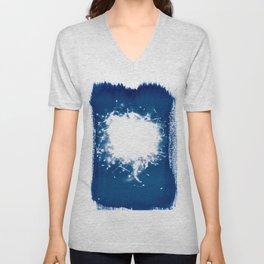 Meadowflowers - Cyanotype Unisex V-Neck