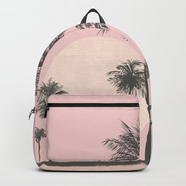 Tropical Sunset In Peach Coral Pastel Colors Rucksack