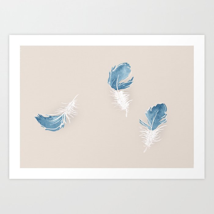 Feather Down Illustration Art Print