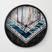 Striped Materials of Nature II Wall Clock