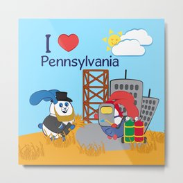 Ernest and Coraline | I love Pennsylvania Metal Print