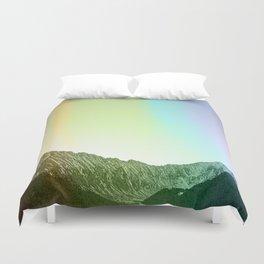 Rainbow Ridge Snow Capped Mountain Range \\ Colorado Landscape Photography \\ B&W Ski Season Art Duvet Cover